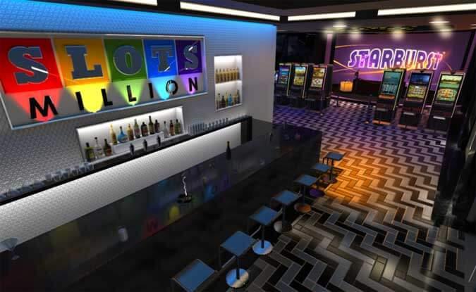 Im Eingang steht ein Casino Bar zum Ausruhen und zu Chatten