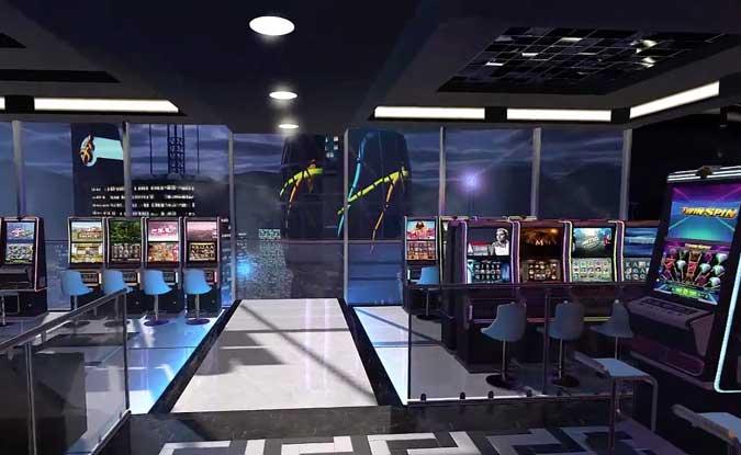Der Eingang vom Oculus Casino mit allen Spielebereichen